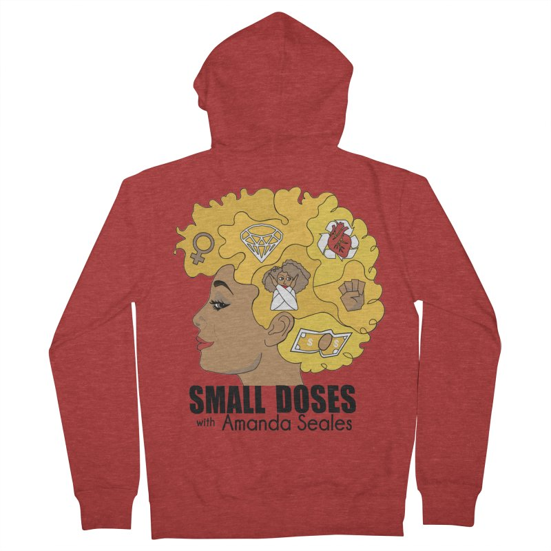 Small Doses Men's French Terry Zip-Up Hoody by amandaseales's Artist Shop
