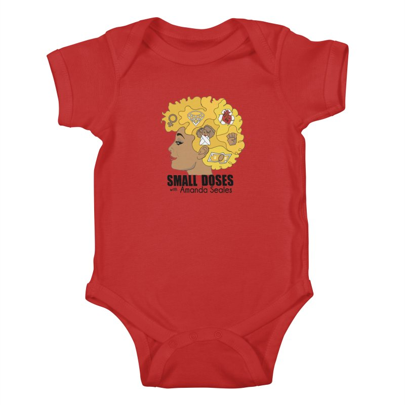 Small Doses Kids Baby Bodysuit by amandaseales's Artist Shop