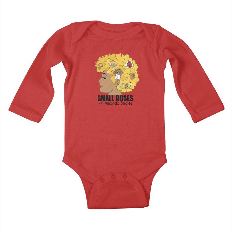Small Doses Kids Baby Longsleeve Bodysuit by amandaseales's Artist Shop
