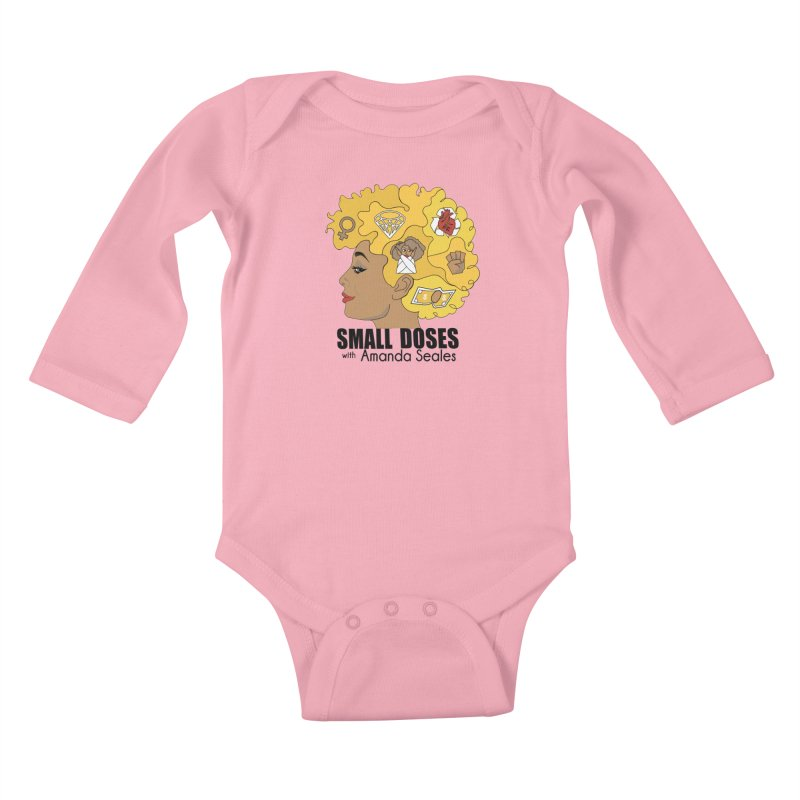 Small Doses Kids Baby Longsleeve Bodysuit by Amanda Seales