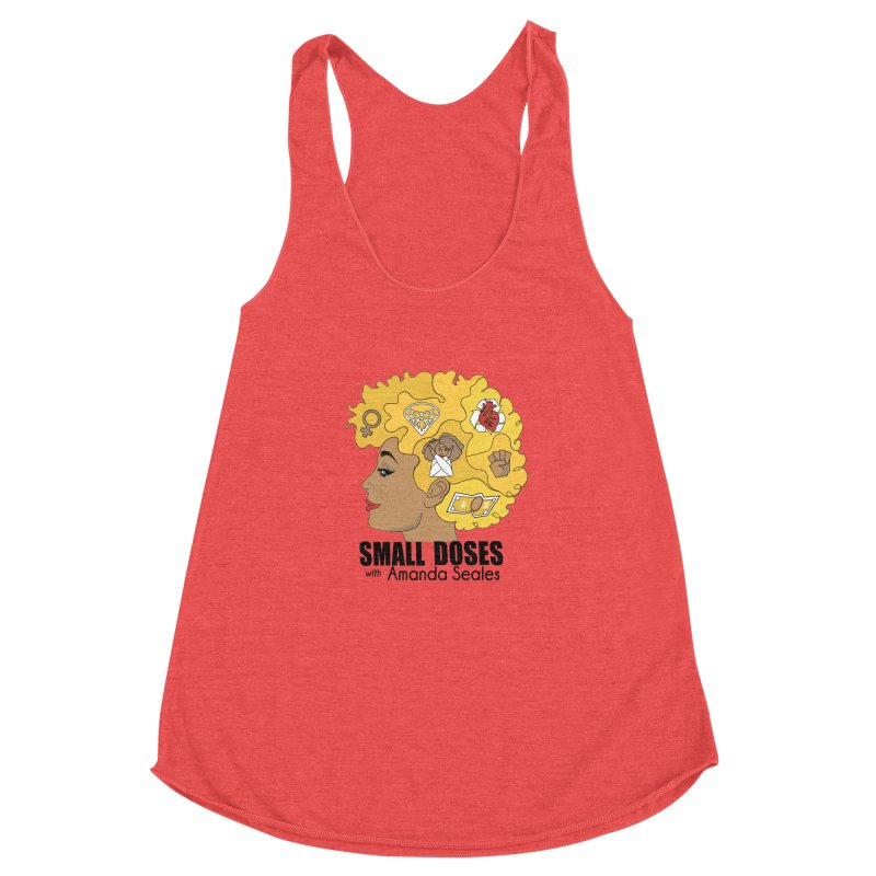 Small Doses Women's Racerback Triblend Tank by amandaseales's Artist Shop