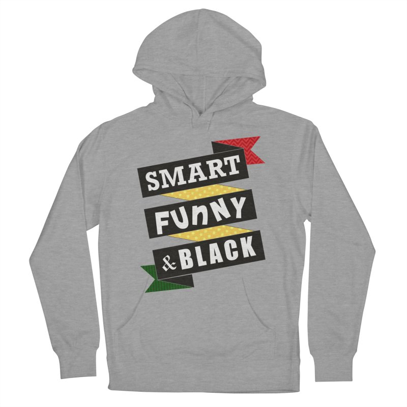Smart Funny & Black in Women's French Terry Pullover Hoody Heather Graphite by amandaseales's Artist Shop