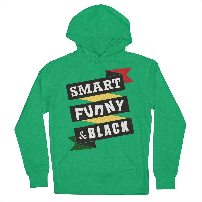 Smart Funny & Black Men's French Terry Pullover Hoody by amandaseales's Artist Shop