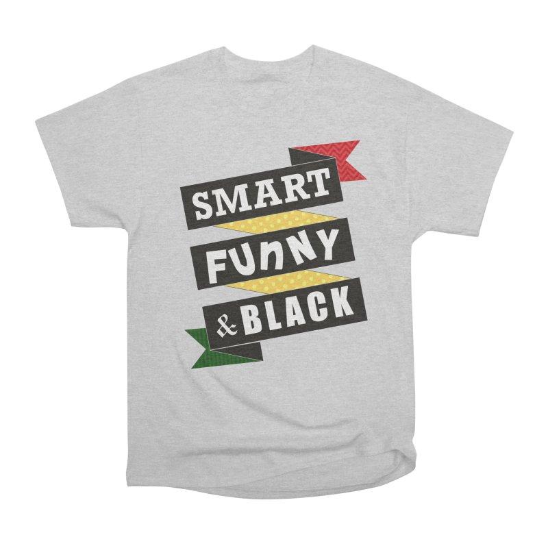 Smart Funny & Black Women's Heavyweight Unisex T-Shirt by amandaseales's Artist Shop