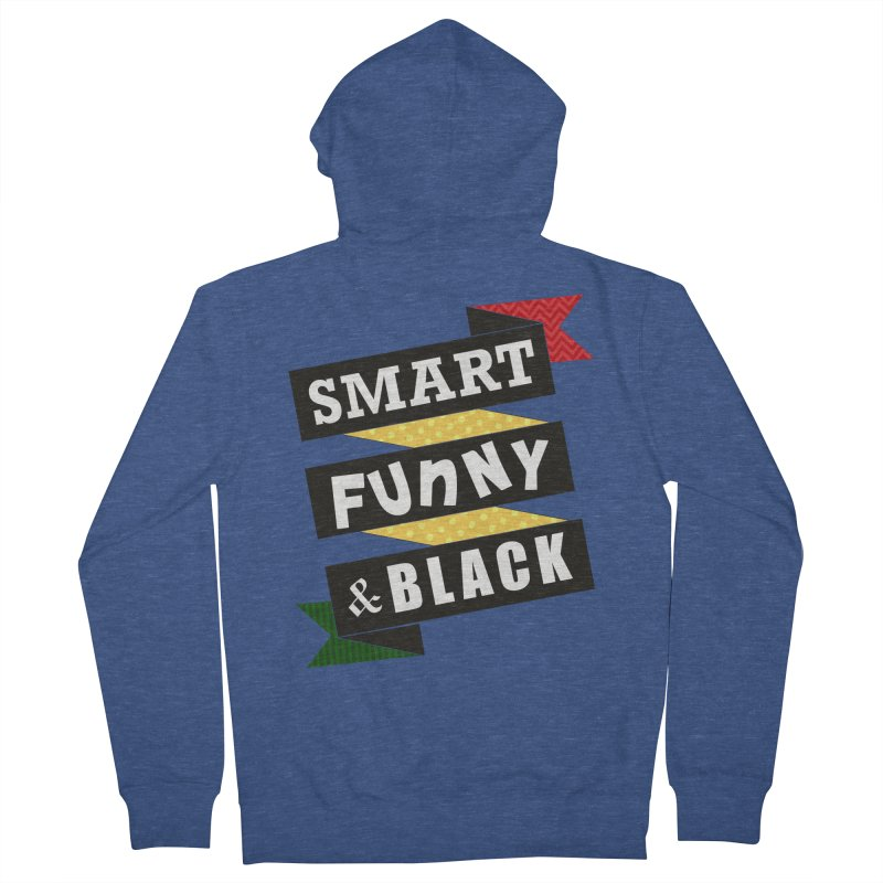 Smart Funny & Black Women's French Terry Zip-Up Hoody by amandaseales's Artist Shop