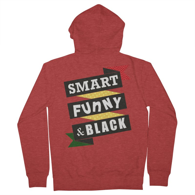 Smart Funny & Black Women's French Terry Zip-Up Hoody by Amanda Seales
