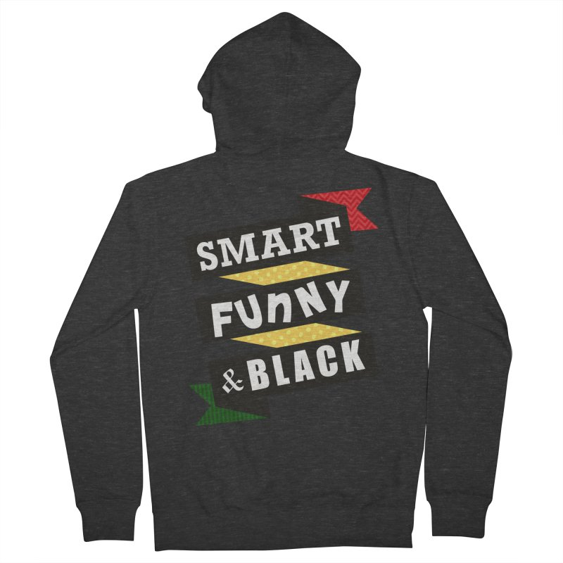Smart Funny & Black Men's French Terry Zip-Up Hoody by amandaseales's Artist Shop