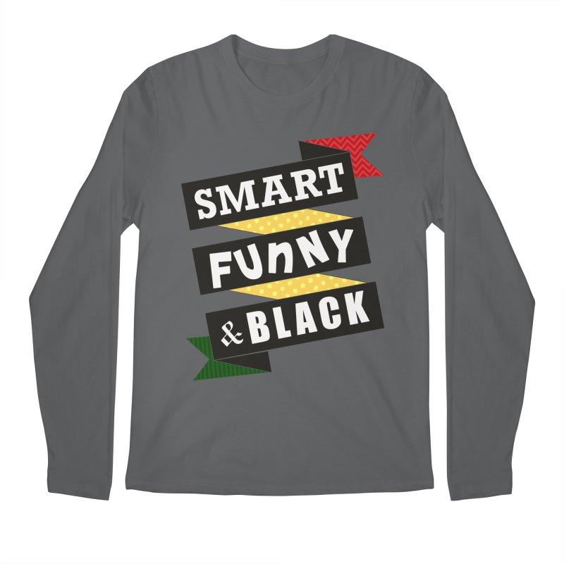 Smart Funny & Black Men's Longsleeve T-Shirt by amandaseales's Artist Shop