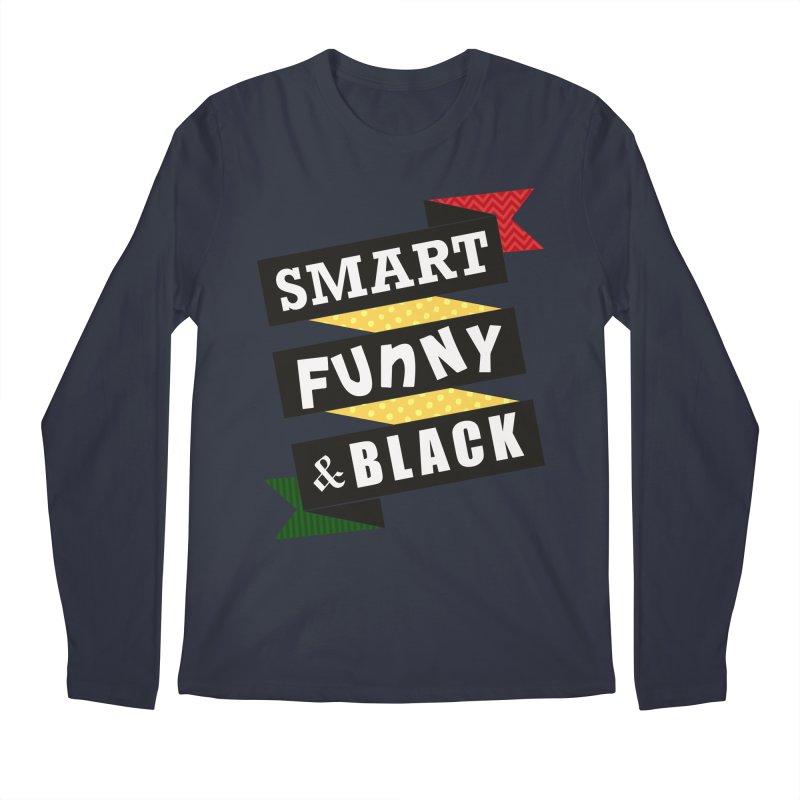Smart Funny & Black Men's Regular Longsleeve T-Shirt by amandaseales's Artist Shop