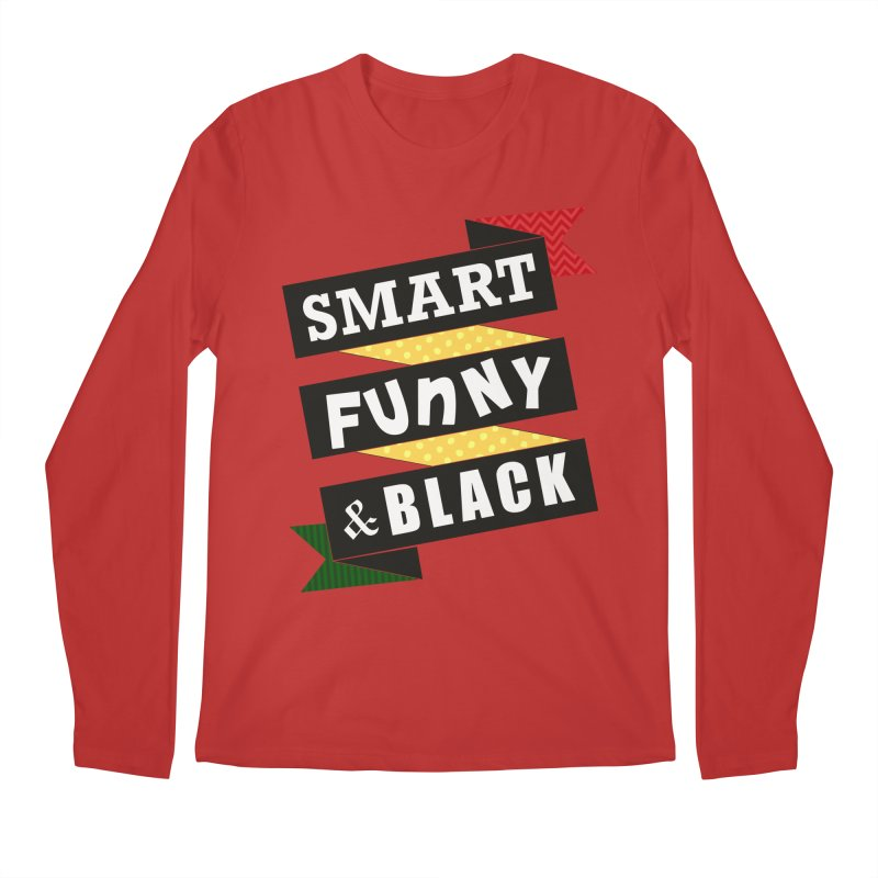 Smart Funny & Black Men's Regular Longsleeve T-Shirt by amandaseales's Artist Shop