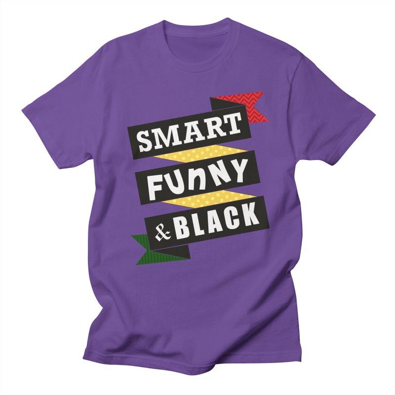 Smart Funny & Black Men's Regular T-Shirt by amandaseales's Artist Shop