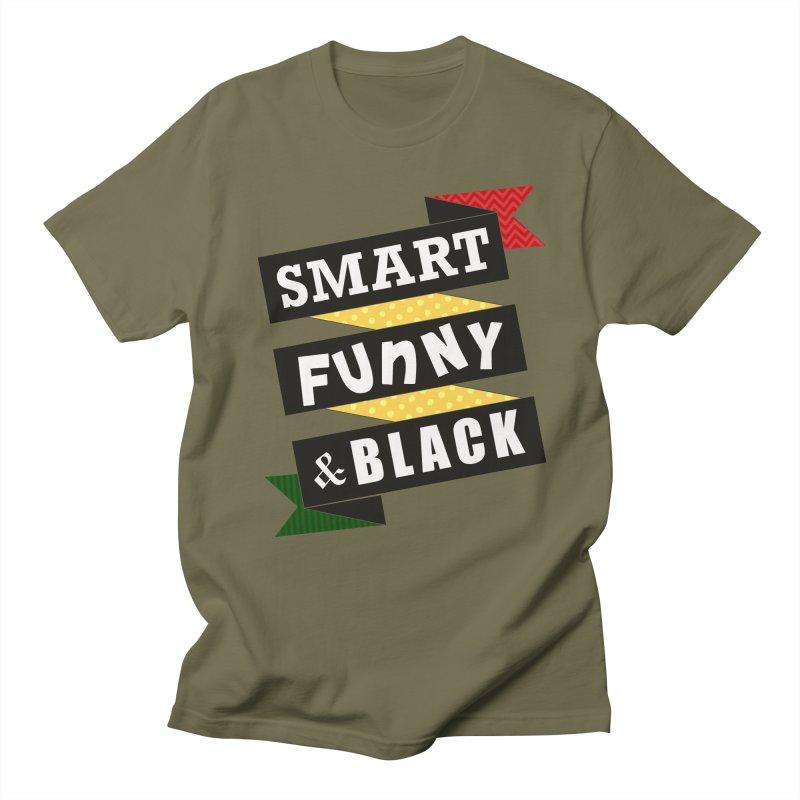 Smart Funny & Black Men's T-Shirt by amandaseales's Artist Shop
