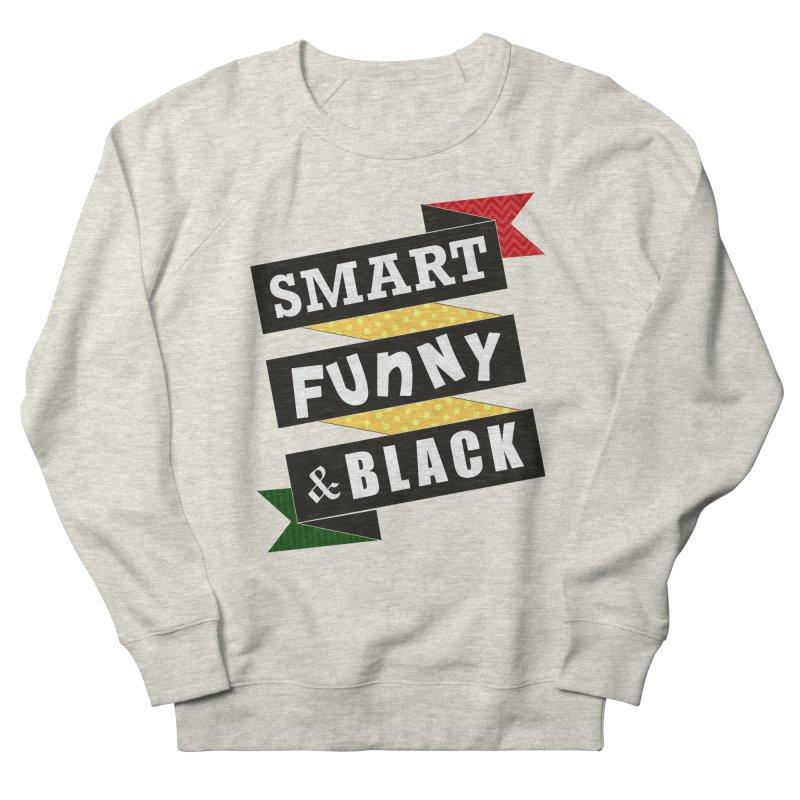 Smart Funny & Black Men's French Terry Sweatshirt by amandaseales's Artist Shop