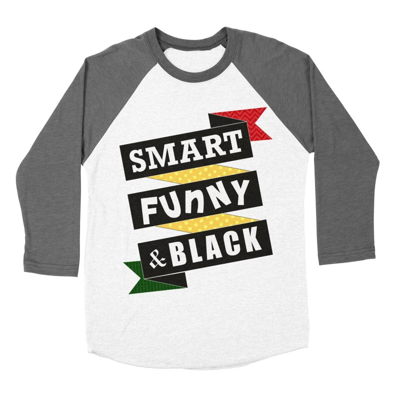 Smart Funny & Black Men's Baseball Triblend Longsleeve T-Shirt by amandaseales's Artist Shop