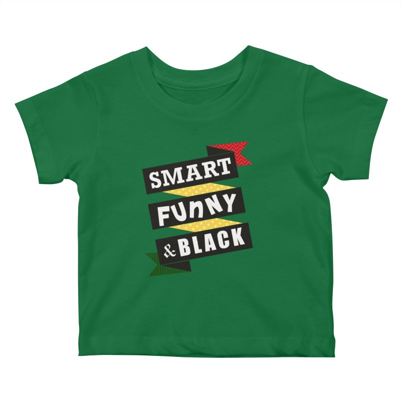 Smart Funny & Black Kids Baby T-Shirt by amandaseales's Artist Shop
