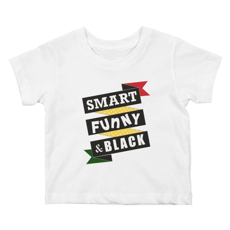 Smart Funny & Black Kids Baby T-Shirt by amandaseales's Artist Shop
