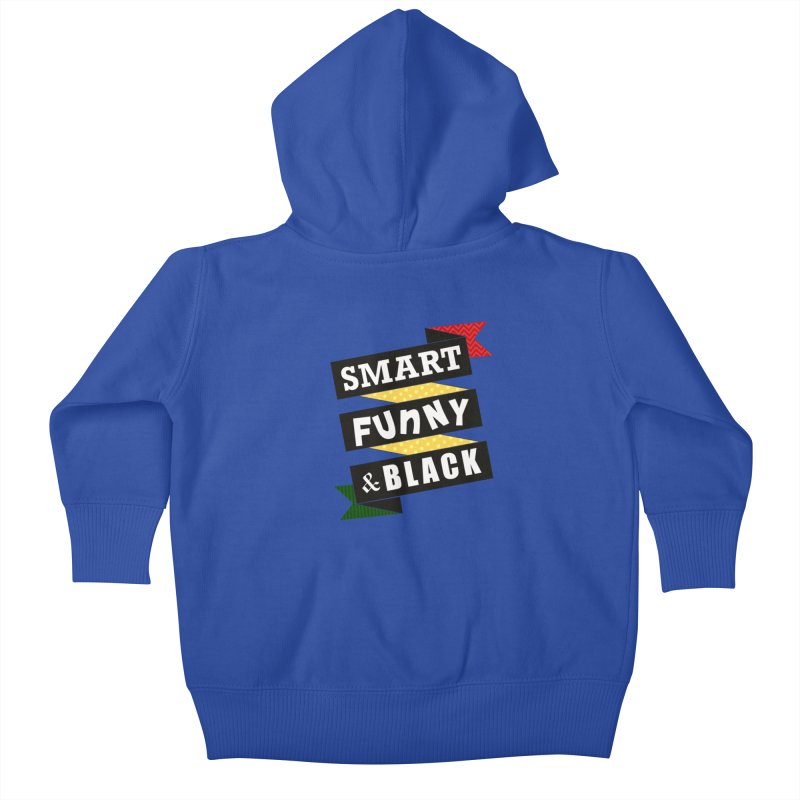 Smart Funny & Black Kids Baby Zip-Up Hoody by amandaseales's Artist Shop
