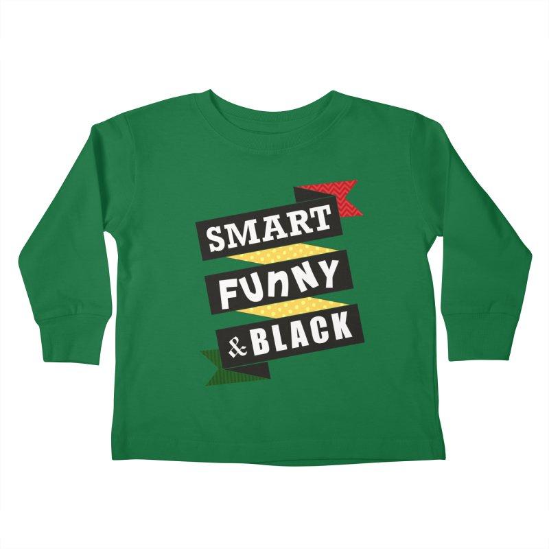 Smart Funny & Black Kids Toddler Longsleeve T-Shirt by amandaseales's Artist Shop