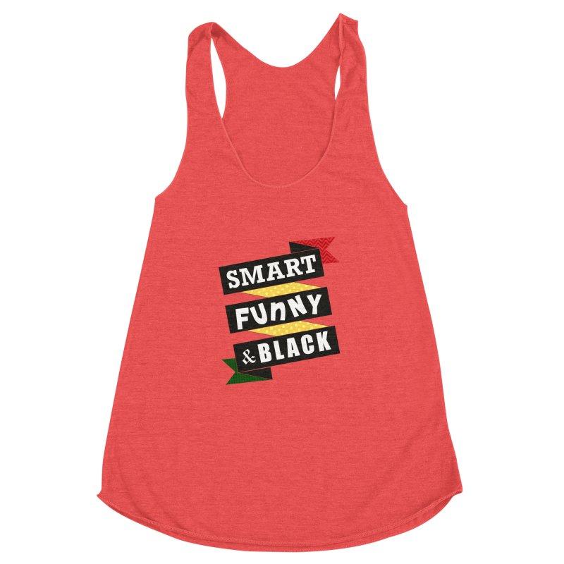 Smart Funny & Black Women's Racerback Triblend Tank by amandaseales's Artist Shop