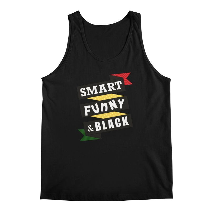 Smart Funny & Black Men's Regular Tank by amandaseales's Artist Shop