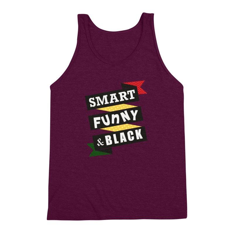 Smart Funny & Black Men's Triblend Tank by amandaseales's Artist Shop