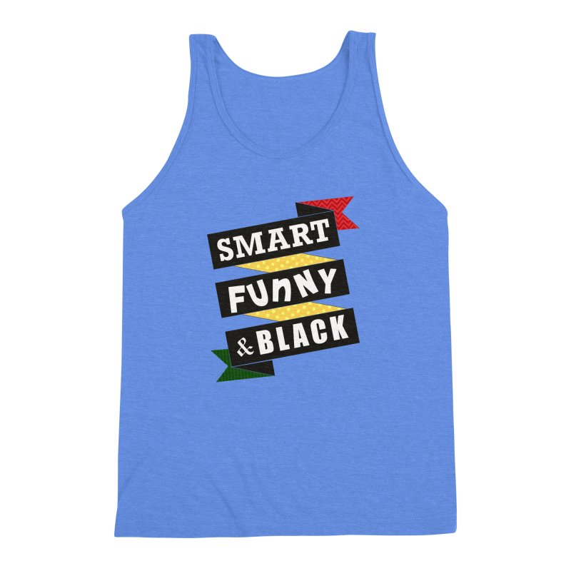 Smart Funny & Black Men's Triblend Tank by amandaseales's Artist Shop