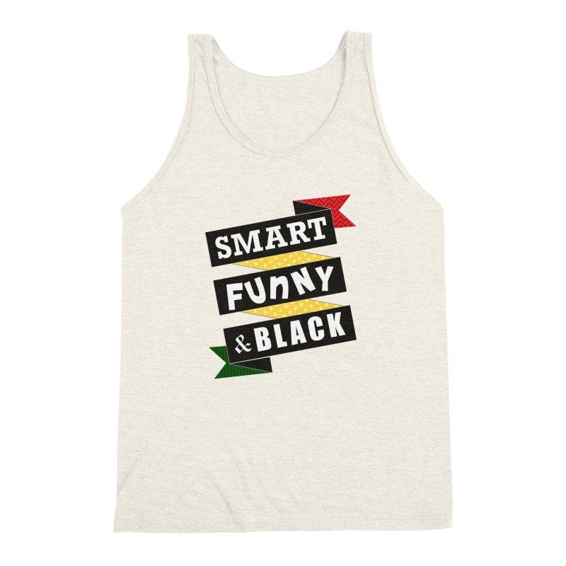 Smart Funny & Black Men's Triblend Tank by Amanda Seales