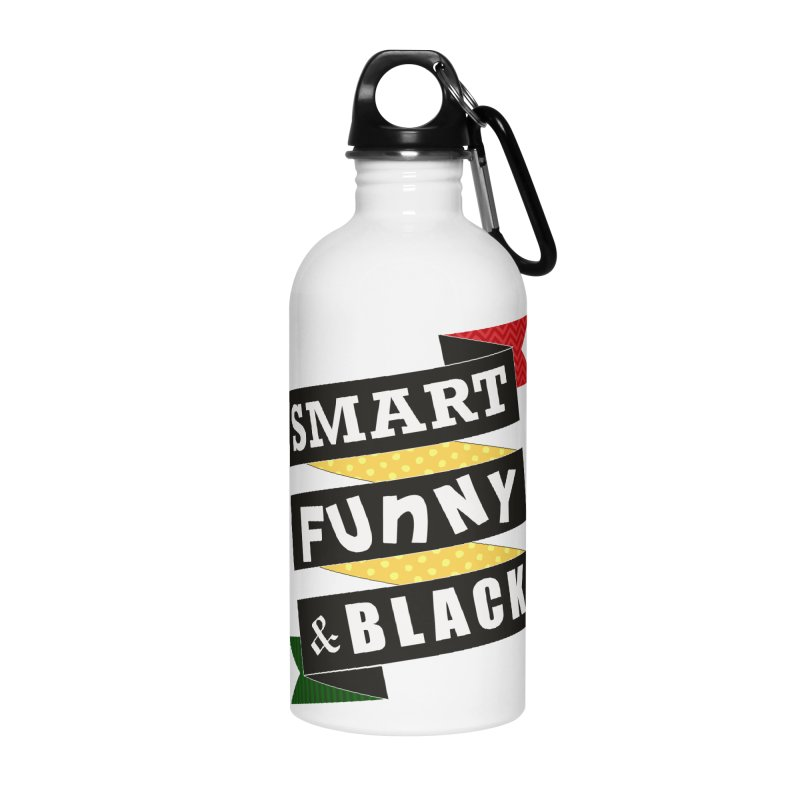 Smart Funny & Black Accessories Water Bottle by amandaseales's Artist Shop