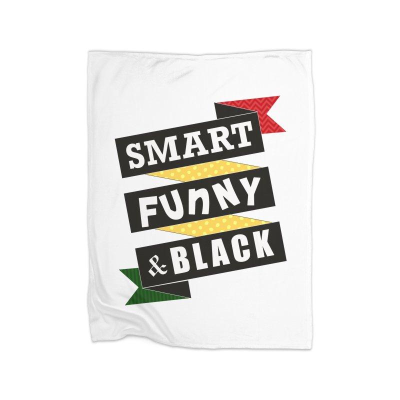 Smart Funny & Black Home Blanket by amandaseales's Artist Shop