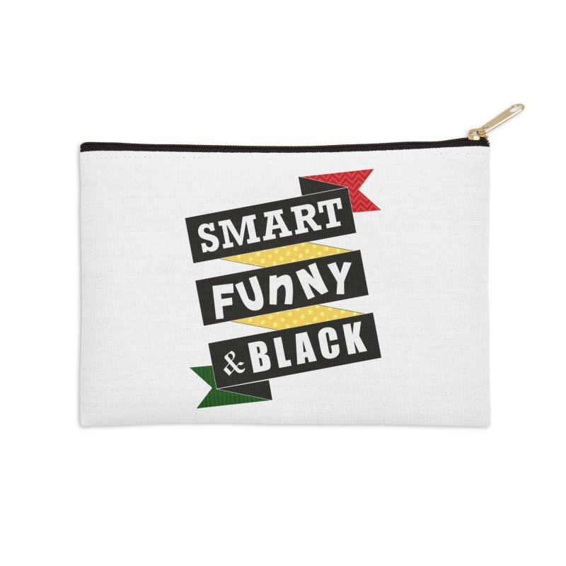 Smart Funny & Black Accessories Zip Pouch by amandaseales's Artist Shop