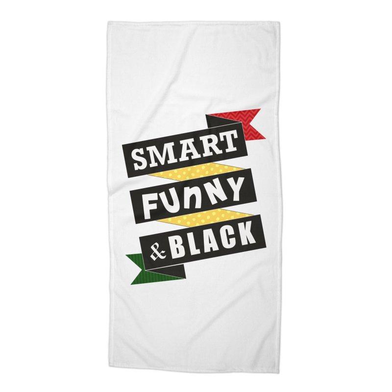 Smart Funny & Black Accessories Beach Towel by amandaseales's Artist Shop