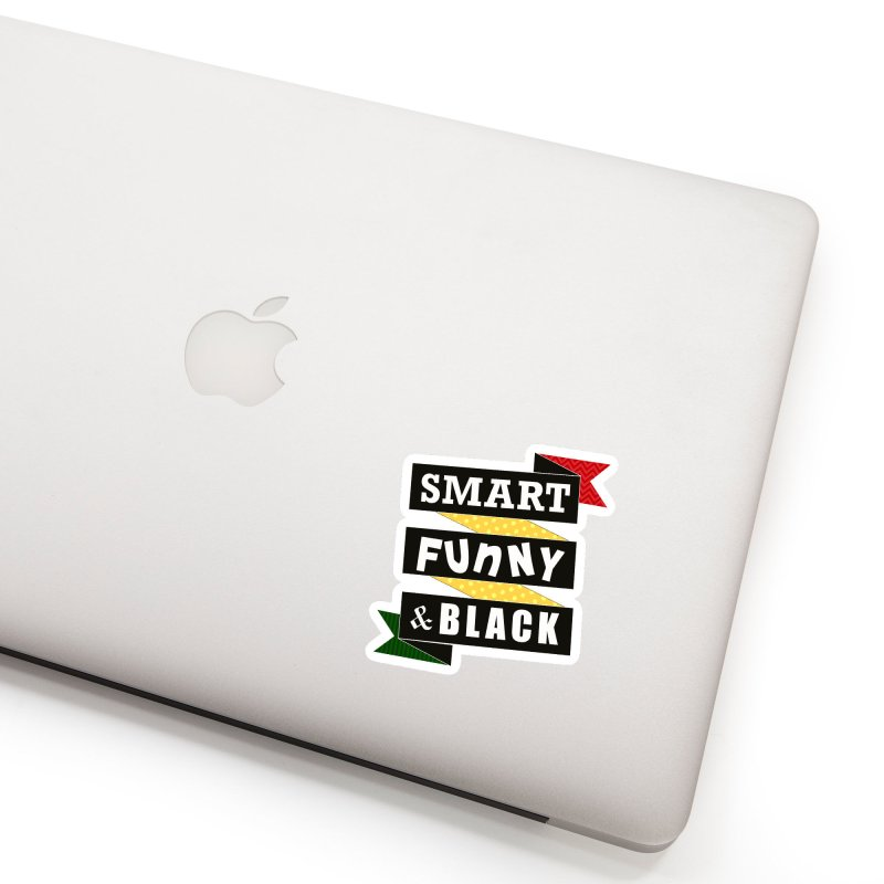 Smart Funny & Black in White Sticker by amandaseales's Artist Shop