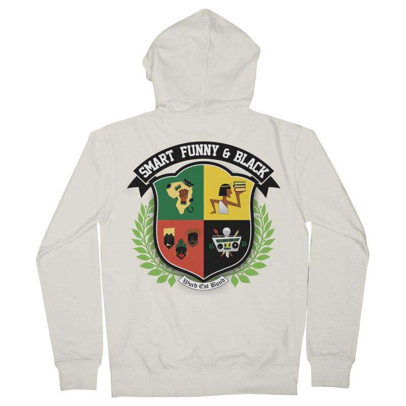 SFB Crest (Black Ink) Men's Zip-Up Hoody by amandaseales's Artist Shop