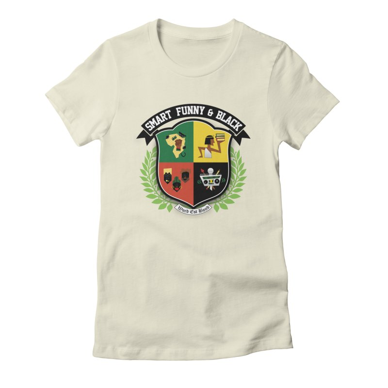 SFB Crest (Black Ink) Women's Fitted T-Shirt by amandaseales's Artist Shop