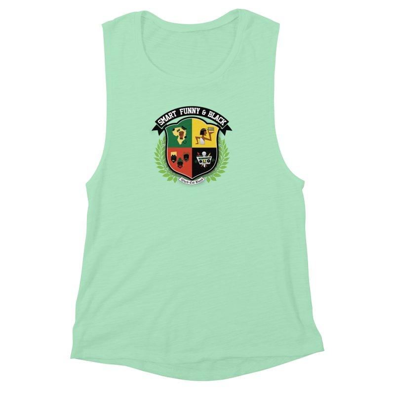 SFB Crest (Black Ink) Women's Muscle Tank by amandaseales's Artist Shop
