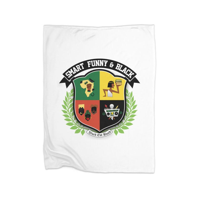 SFB Crest (Black Ink) Home Fleece Blanket Blanket by Amanda Seales