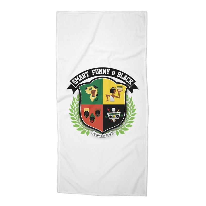 SFB Crest (Black Ink) Accessories Beach Towel by amandaseales's Artist Shop