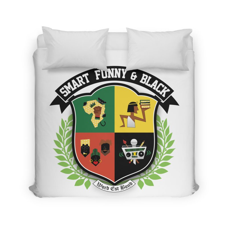 SFB Crest (Black Ink) Home Duvet by Amanda Seales