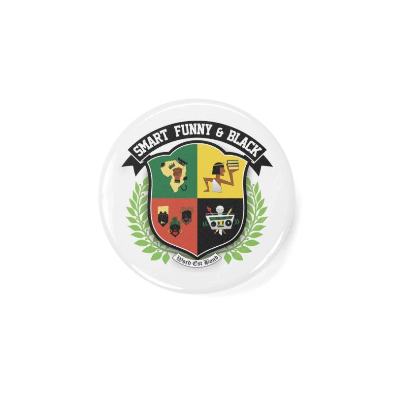 SFB Crest (Black Ink) Accessories Button by Amanda Seales