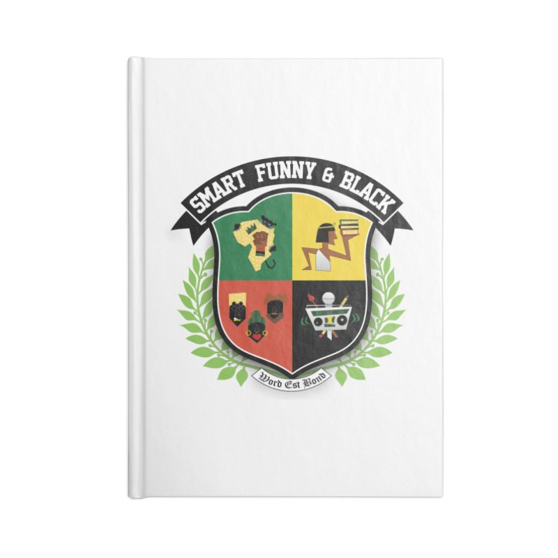 SFB Crest (Black Ink) Accessories Lined Journal Notebook by Amanda Seales