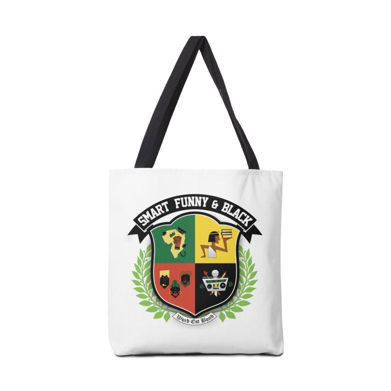 SFB Crest (Black Ink) Accessories Bag by amandaseales's Artist Shop