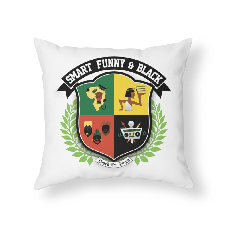 SFB Crest (Black Ink) in Throw Pillow by Amanda Seales