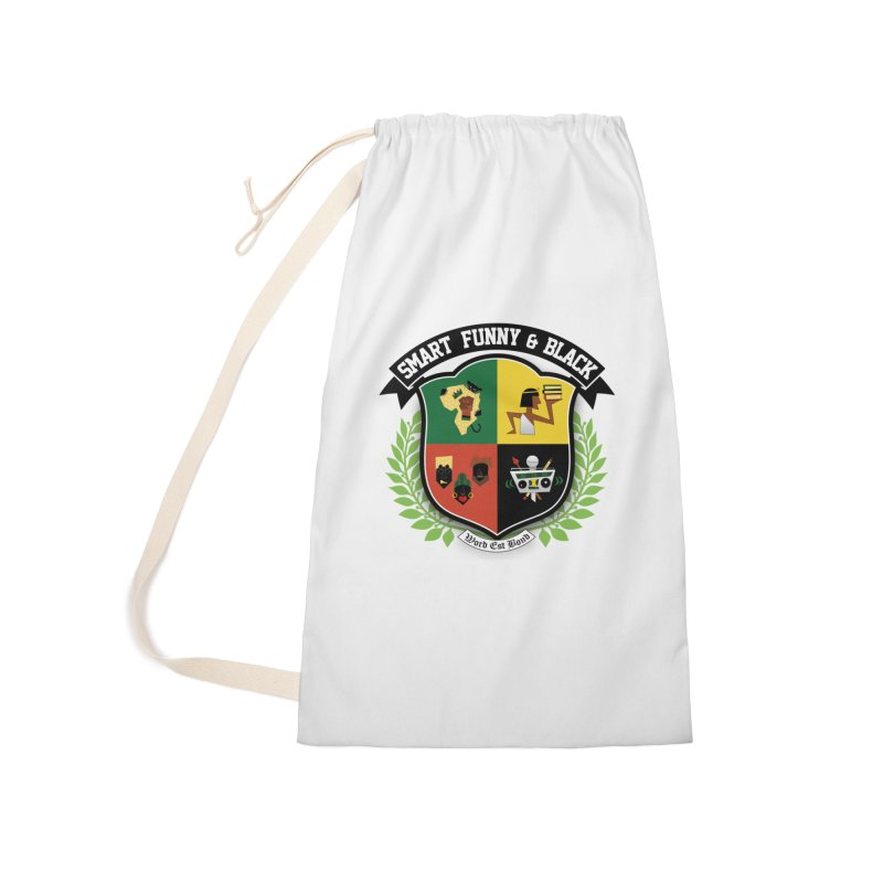 SFB Crest (Black Ink) Accessories Laundry Bag Bag by Amanda Seales