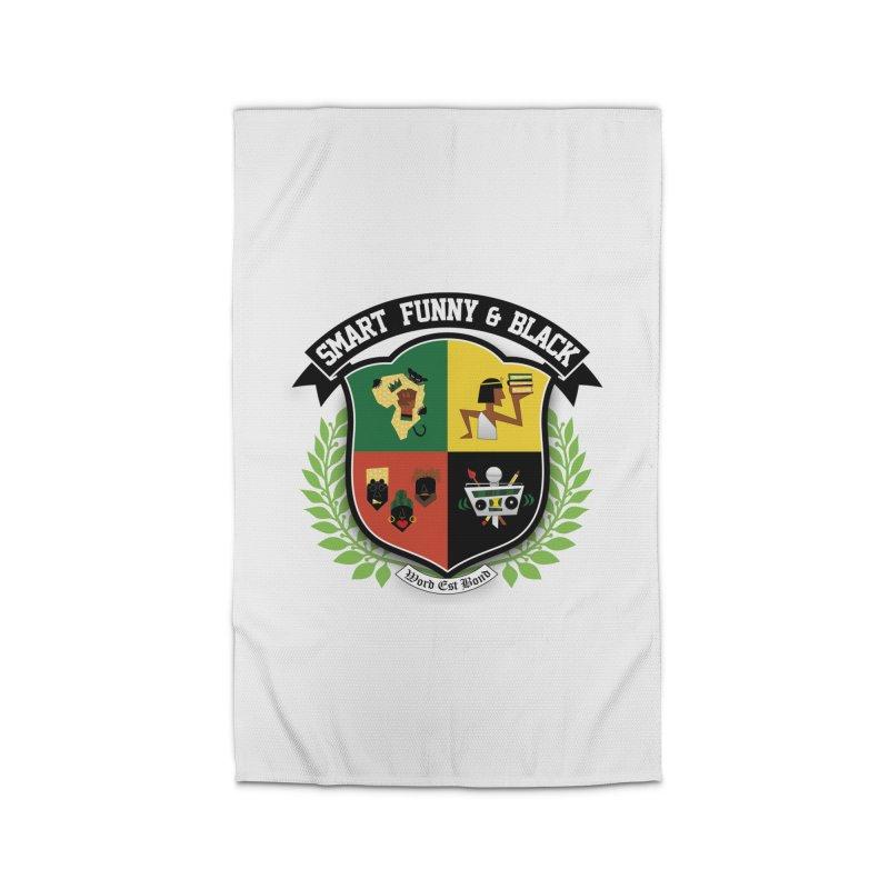 SFB Crest (Black Ink) Home Rug by amandaseales's Artist Shop
