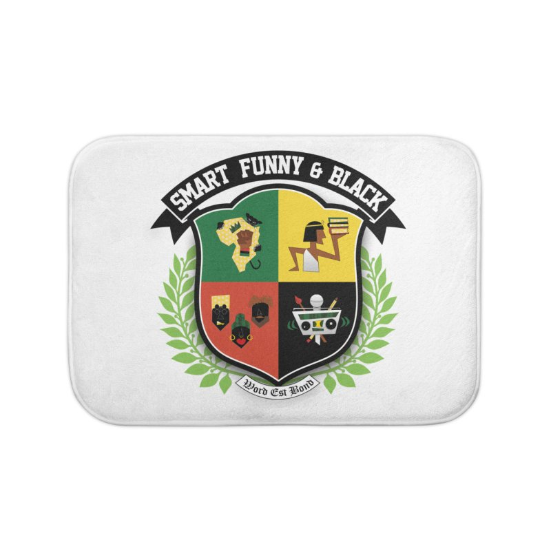 SFB Crest (Black Ink) Home Bath Mat by Amanda Seales