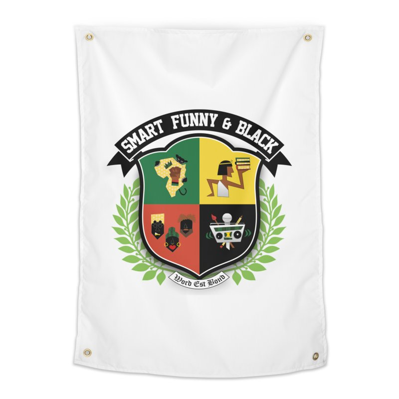 SFB Crest (Black Ink) Home Tapestry by Amanda Seales