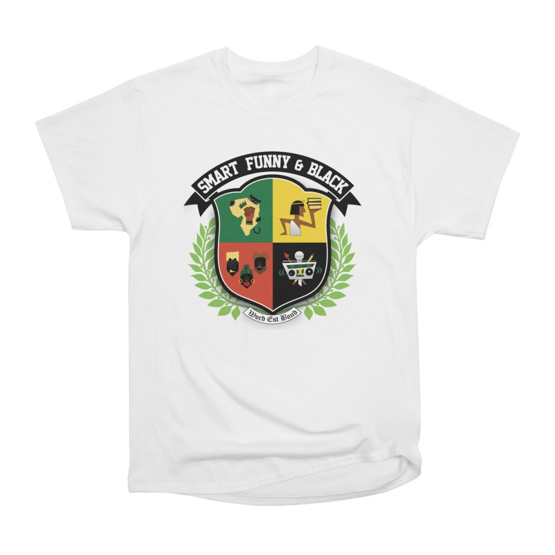 SFB Crest (Black Ink) in Women's Heavyweight Unisex T-Shirt White by Amanda Seales