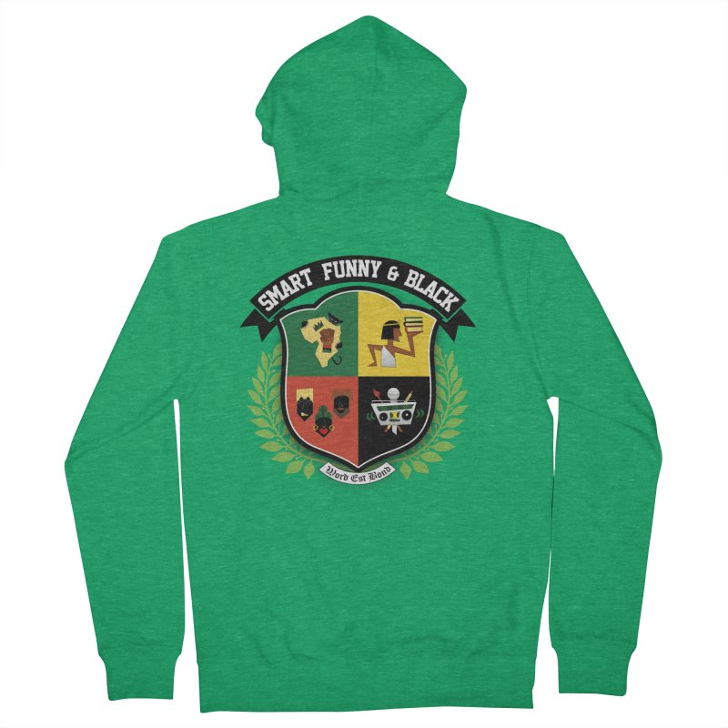 SFB Crest (Black Ink) Men's French Terry Zip-Up Hoody by amandaseales's Artist Shop