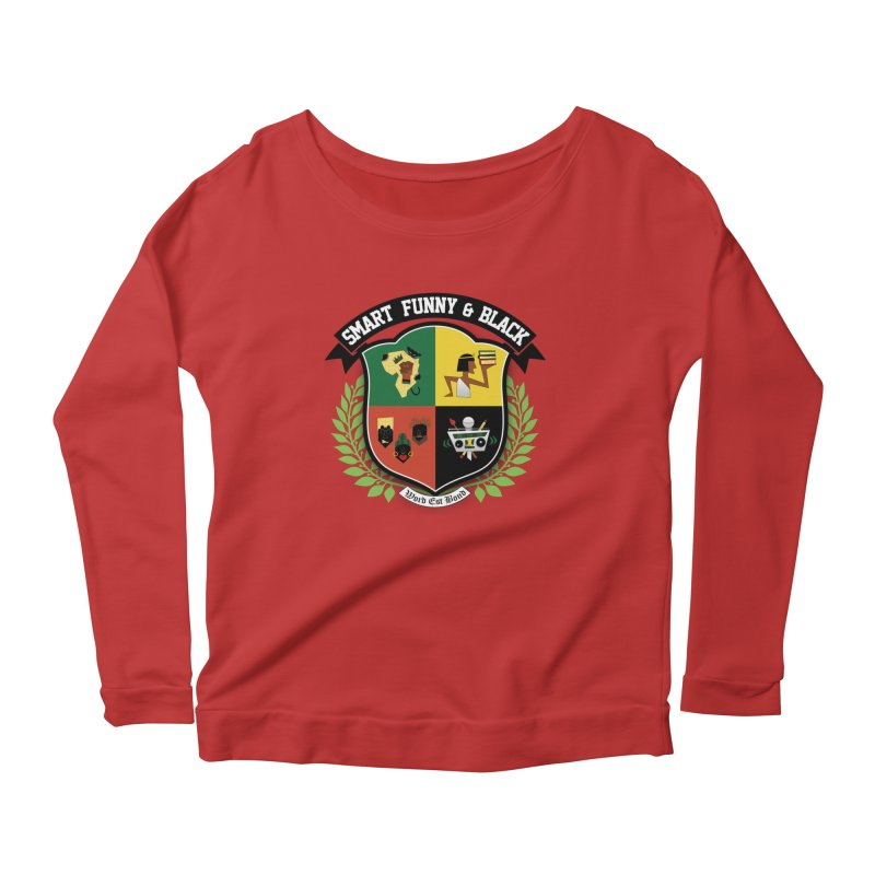 SFB Crest (Black Ink) Women's Scoop Neck Longsleeve T-Shirt by amandaseales's Artist Shop