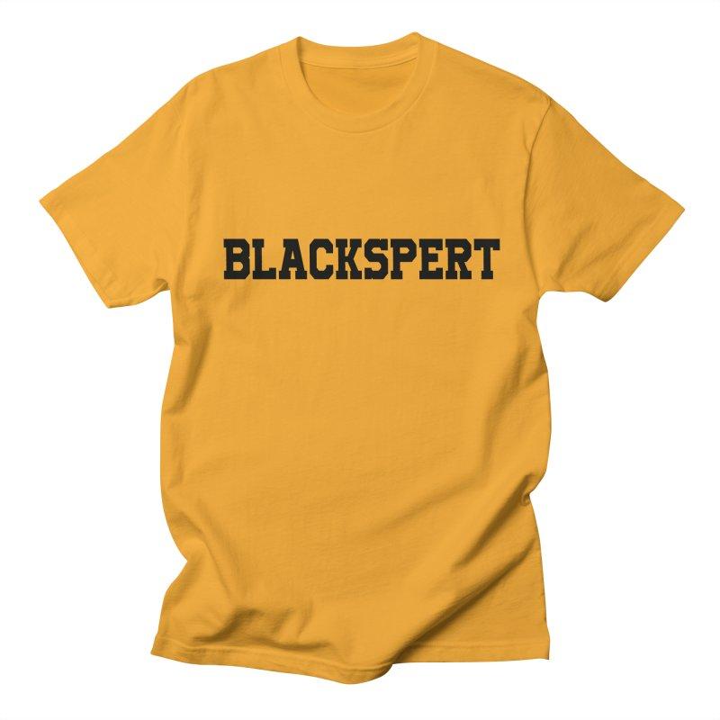 BLACKSPERT (Black Ink) in Men's Regular T-Shirt Gold by amandaseales's Artist Shop
